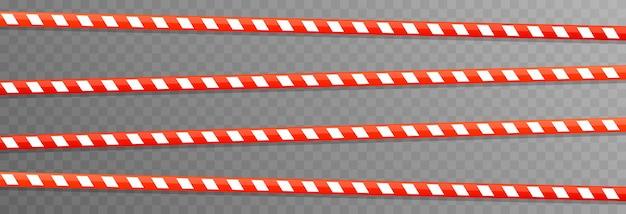 경고 테이프 벡터 세트 노란색 테이프 위험 지역 경찰 테이프 png