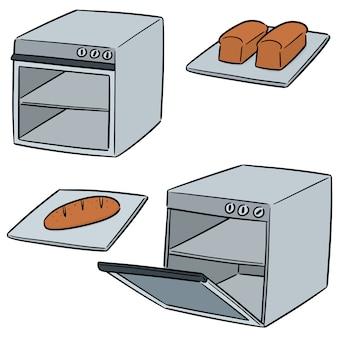 Vector set of oven