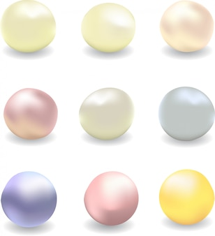 Vector set of pearls