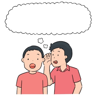 Vector set of people whispering