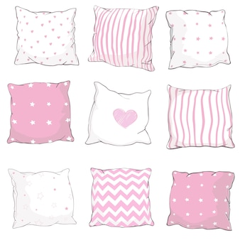 Vector set pillows.