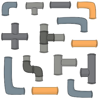 Vector set of pipe