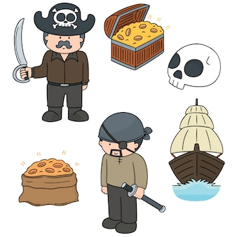 Vector set of pirate