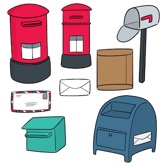 Vector set of postbox
