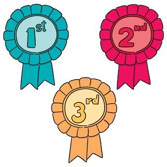 Vector set of ribbons award