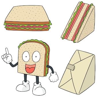 Vector set of sandwich
