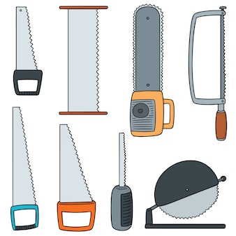 Vector set of saw