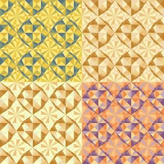 ベクトルはシームレスな幾何学模様を設定します