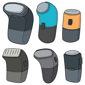 Vector set of shaver