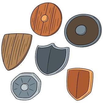 Vector set of shields