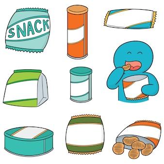 Vector set of snack