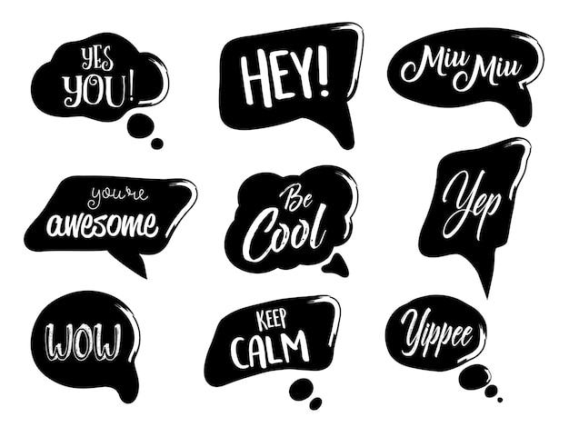Vector set of speech bubbles in comic style.