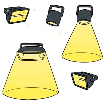 Vector set of spotlight