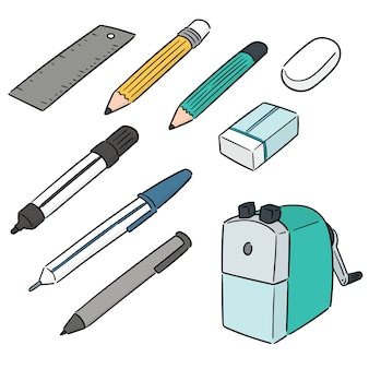 Vector set of stationery