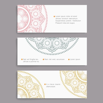 Vector set of stylish cards