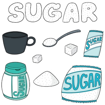 Vector set of sugar