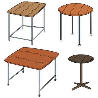Vector set of table