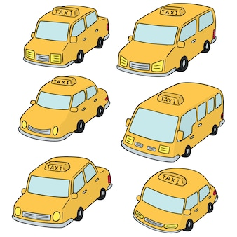 Vector set of taxi