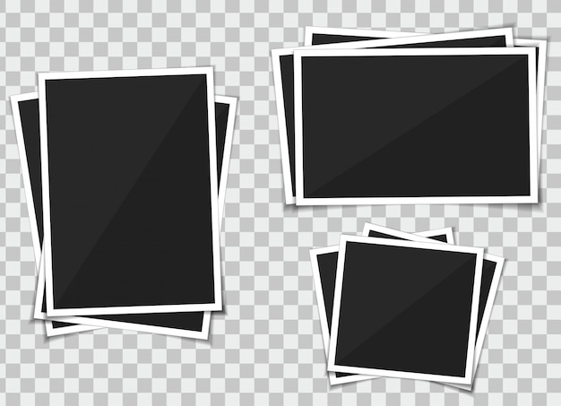 Vector set of template photo frame
