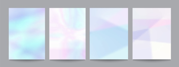Vector set of template with soft pastel backgrounds