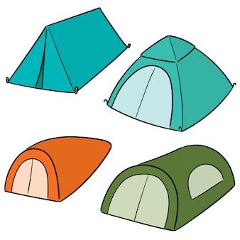 Vector set of tent