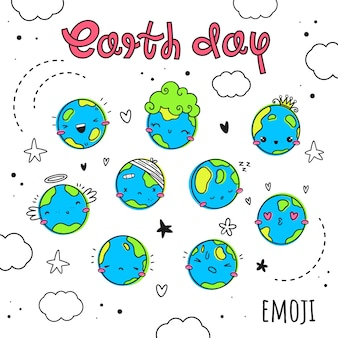 Vector set on the theme of earth day