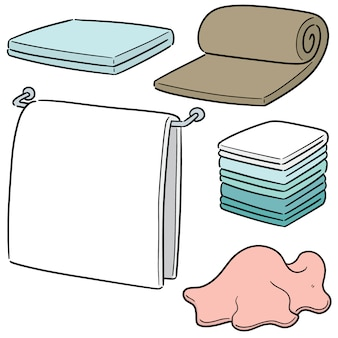 Vector set of towels