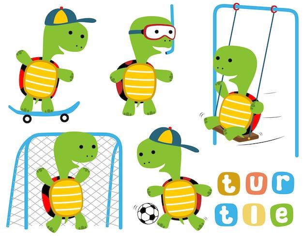 Vector set of turtles