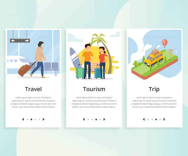 Vector set user interface kit for travel