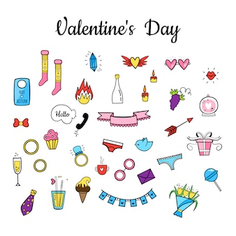 Vector set for valentine's day