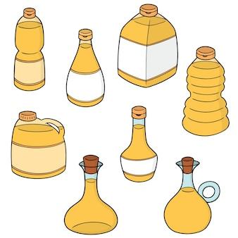 Vector set of vegetable oil