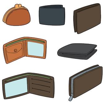 Vector set of wallet
