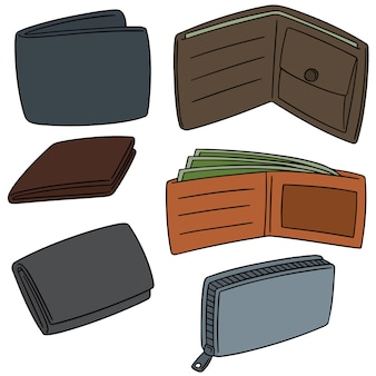 Vector set of wallet