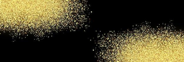 격리 된 투명 한 배경 스파클링 효과 반짝이 입자에 벡터 빛나는 황금 입자