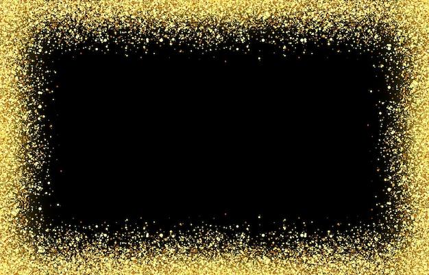 Вектор блестящие золотые частицы на изолированных прозрачном фоне сверкающий эффект блеска частиц