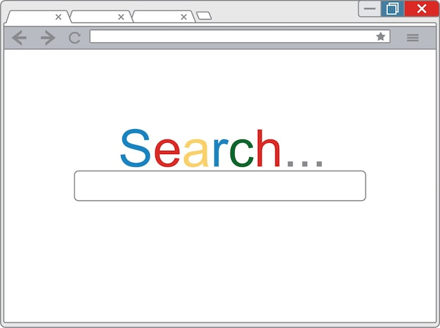 Vector simple browser window