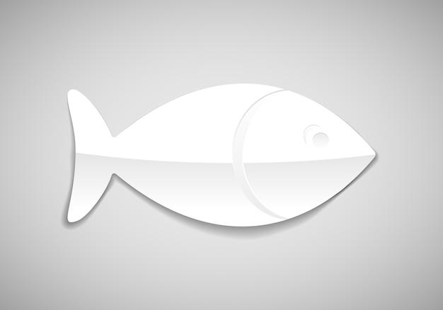 Вектор простой рыбы в бумажном стиле