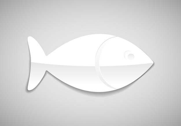 Vector simple fish in paper style