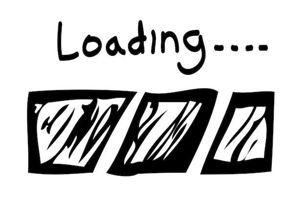 벡터 간단한 손 그리기 스케치 로드 또는 진행률 표시줄