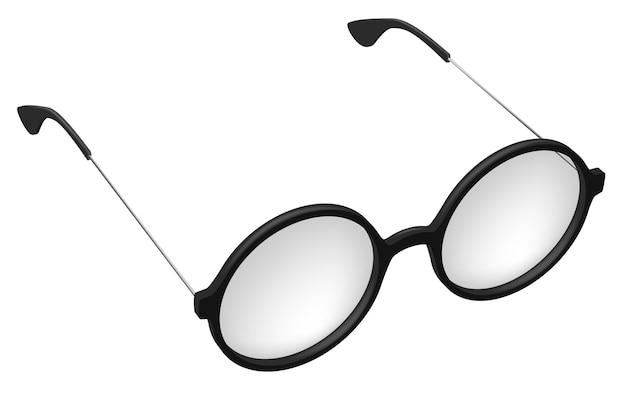 Вектор простые круглые очки, очки