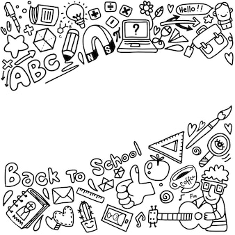 Vector sketch back to school background