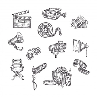 Vector sketches of cinema