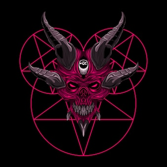 Vector skull demon evil illustration