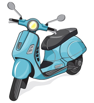 Vector small city motorcycle