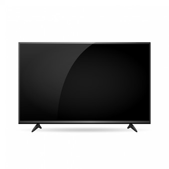 벡터 스마트 tv 화면 모형