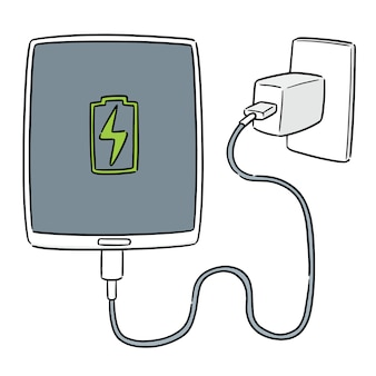 Vector of smartphone charging