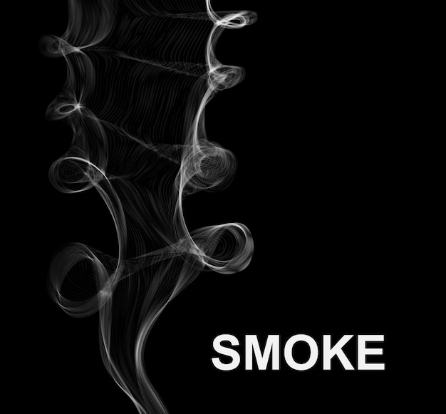 Vector smoke. abstract background.
