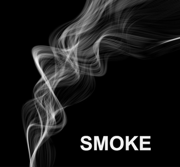 Vector smoke background.