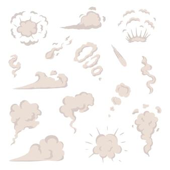 Вектор дыма набор спецэффектов шаблон