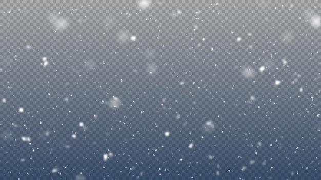 벡터 강설량 절연 겨울 배경 눈 오버레이 그림 눈송이와 얼음